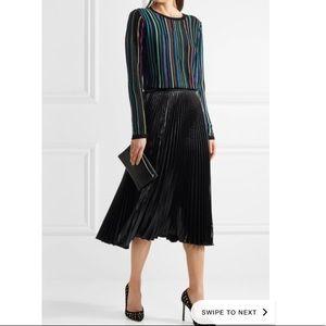 Midi metallic pleated skirt DVF